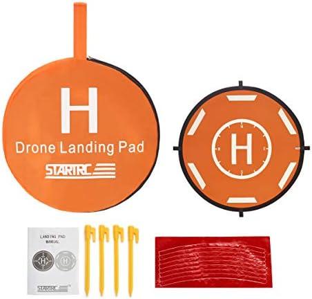 STARTRC Drone Landing Pad, RC Hélicoptère Piste Pliable d'atterrissage pour DJI Mavic Pro/Mavic Air 2/ Spark/Mavic Pro Platinum/Mavic Mini Phantom 3 Phantom 4 Inspire 1 FIMI X8SE Quadcopter (80CM)