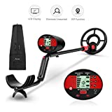Avid Power Metal Detector for Adults Kids, Waterproof Metal Detectors with LCD Display, Pinpoint Function, Discrimination Mode, Distinctive Audio Tone and Carrying Bag