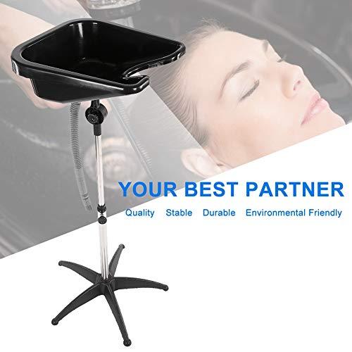 Portable Adjustable Height Hair Basin Barber Salon Deep Bowl Plastic Shampoo Hair Treatment Bowl