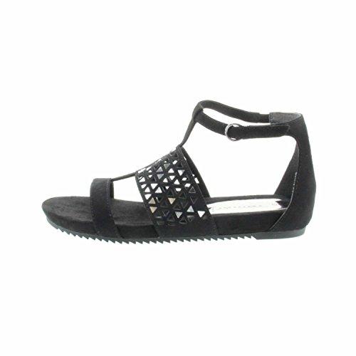 Tamaris 1-1-28603-38/475 475 - Sandalias de vestir de Lona para mujer negro