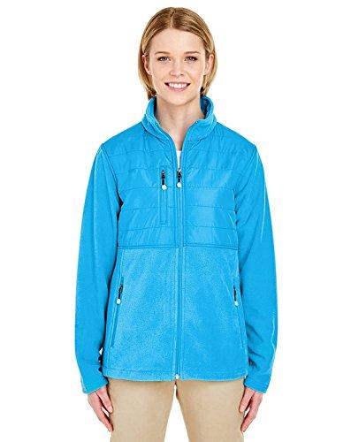 UltraClub 8493 Ladies Fleece Jacket Kinetic Blue X-Large