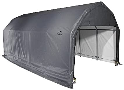 Amazon Shelterlogic 90253 Grey 12x28x11 Barn Shelter Automotive