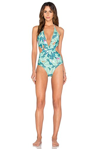 0dc54fd504546 Topwigy Women s Light Green Beachwear Sexy Bikini Swimsuit with Leaf  Printing Padded Push up Bathing Suit