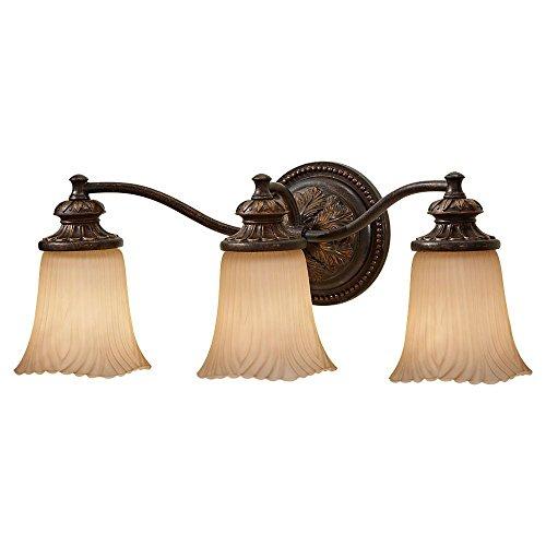 Murray Feiss VS19503 GBZ Emma 3 Light Vanity Strip, Grecian Bronze