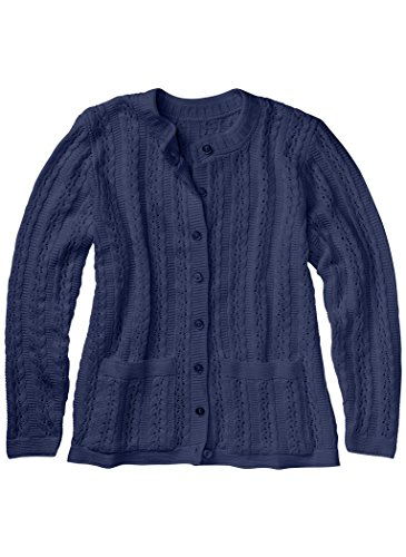 AmeriMark Cable Stitch Cardigan (Petite Button Sweater One)