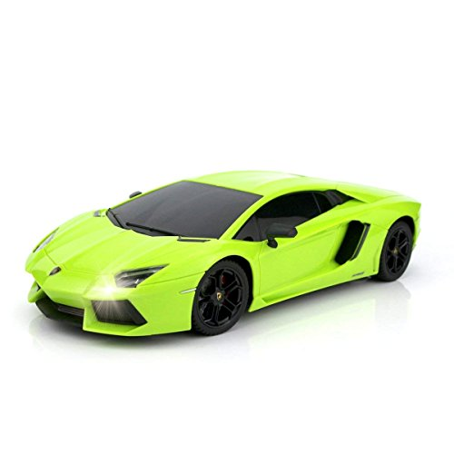 (QUN FENG RC Car 1:18 Lamborghini Aventador Radio Remote Control Cars Electric Car Sport Racing Hobby Toy Car Grade Licensed Model Vehicle for Kids Boys and Girls Best Gift (Green) )