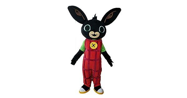 Amazon.com: 100% Real Mascot Bing conejo traje disfraz de ...