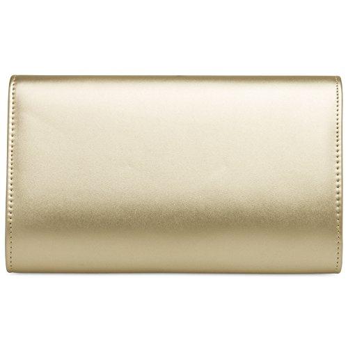 à main CASPAR enveloppe longue clutch Sac Doré chaînette avec pour élégant de TA363 femme Pochette soirée qEnFFt