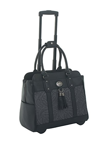 the-dallas-black-grey-tooled-rolling-ipad-tablet-or-laptop-tote-carryall-bag