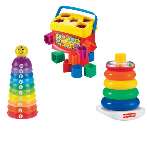Fisher Price Babys First Blocks With Stack And Roll Cups   Brilliant Basics Rock A Stack