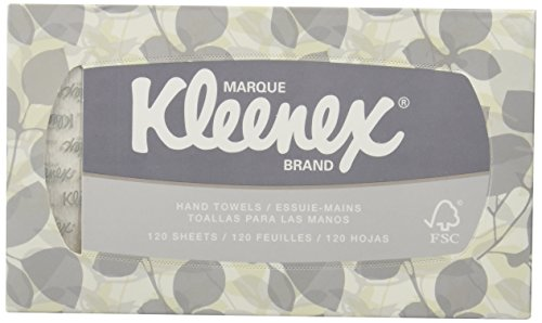KLEENEX Pop-Up Box Hand Towels, Paper, 9 x 10-1/2, 120/pack ()