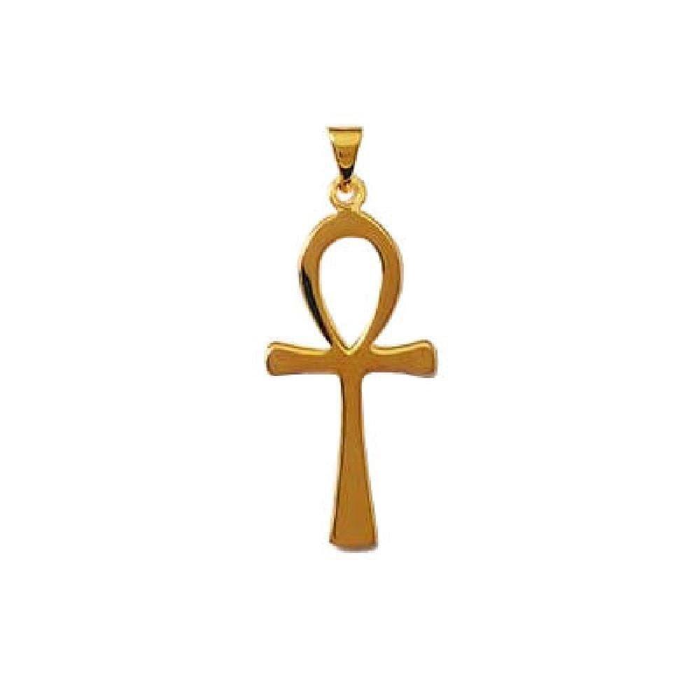 Pendentif Ankh Amulette Protection Égyptienne Plaqué Or 15536