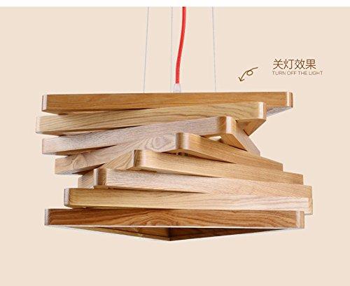 Xky nordic led moderni retrò ritorto in legno lampadario camera