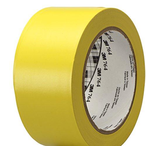 3M General Purpose Vinyl Tape 764 Yellow, 2 in x 36 yd 5.0 mil (Pack of 1)