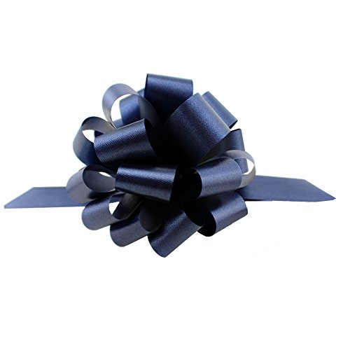 Navy Blue Decorative Gift Pull Bows - 5