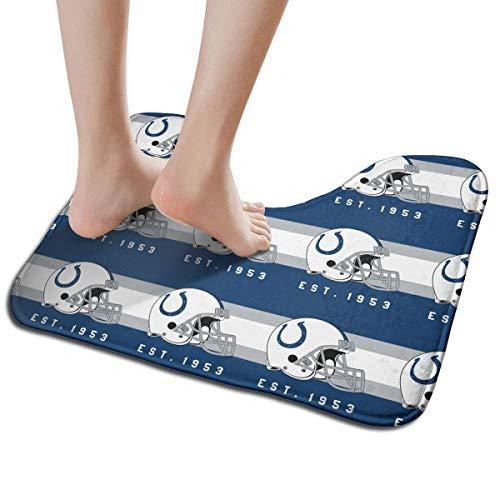 Jacoci Custom Indianapolis Colts Toilet Doormat Non Slip Floor Door Mat Bath Rug for Bathroom Decor Standard Size 19.3 x 15.7 -
