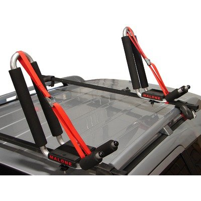 Malone J-Pro 2 J-Style Universal Car Rack Kayak Carrier with Bow and Stern Lines, Outdoor Stuffs