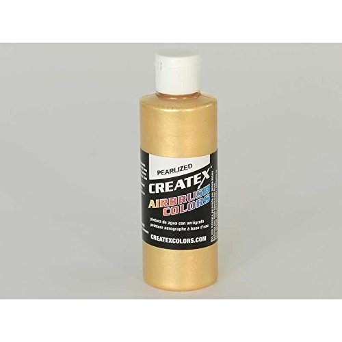 Paint Pearl Gold (Createx Airbrush Paint, Pearl Satin Gold, 4 oz (5307-04))