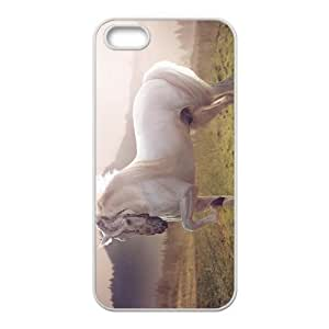 Horse And Moon Hight Quality Plastic Case for Iphone 5s