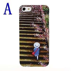 Cute Cartoon Pattern Plastic Hard Case for iPhone 5/5S , E