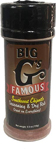 Southwest Chipotle Seasoning and Dry Rub, Award Winning, Special Blend of Herbs & Spices, Great on Everything! Grilling, Smoking, Roasting, Cooking, or Baking! By: Big G's Food ()