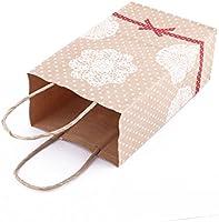 Amazon.com: eDealMax Papel Kraft boda manija compras bolsas ...