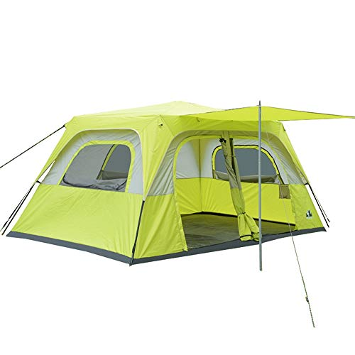 Lisansang Camping Tent Waterproof Family Camping Beach Tent For Hiking Picnic Traveling Fishing (Color : Yellow, Size…