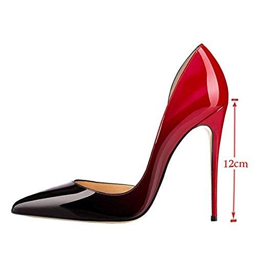 Donna Spillo Soireelady Tacco Rosso Punta Scarpe Tacco Scarpe Donna a con Alto Chiusa qxAqYZnwt