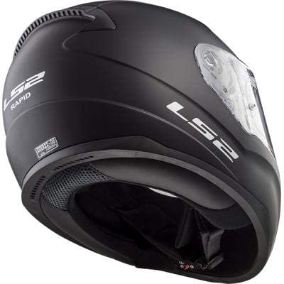 Black Size M LS2 Motorcycle Helmets-Rapid Matt