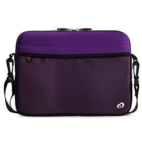 Price comparison product image Kroo Microsoft Book 2 13.5-Inch Case Bag, Tablet Laptop Sleeve with Shoulder Strap (Violet)
