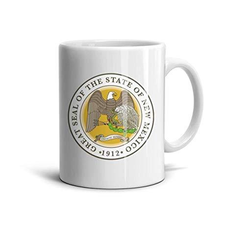 UHOMEW White Ceramic Cup New Mexico Emblem 11 Oz Funny Mug