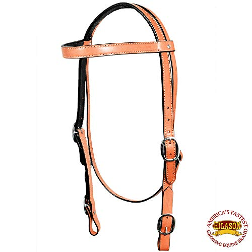 - HILASON Western Leather Draft Horse Bridle Headstall Oversize TAN