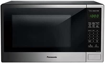 Panasonic NN-SU696S Countertop Microwave Oven with Genius Cooking Sensor and Popcorn Button, 1.3 cu. ft., Stainless