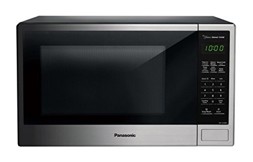 Panasonic NN-SU696S Countertop Microwave Oven with Genius Cooking Sensor and Popcorn Button, 1.3 cu. ft., Stainless by Panasonic