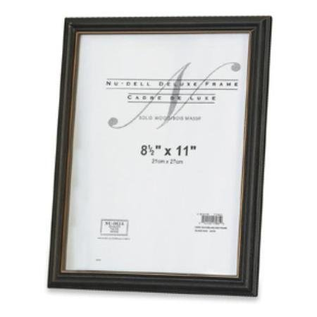 Glolite Nudell Nud-17081 Nu-dell Deluxe Frame - 8.5 X 11 Insert - Wall-mountable - Horizontal Vertical - Plastic - Woodgrain Black (nud17081) - Frame Document Deluxe