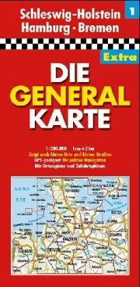 Die Generalkarten Deutschland Extra, 12 Bl., Bl.1, Schleswig-Holstein, Hamburg, Bremen (Série Régionale)