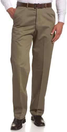 Haggar Men's Work To Weekend Hidden Expandable Waist No Iron Plain Front Pant