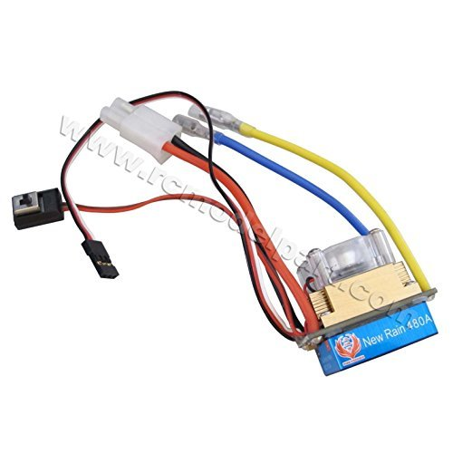 Helicopter Rc Esc - New 480A Three Mode Brushed Speed Controller ESC Regler for 1/10 RC Car Boat Tamiya Plug