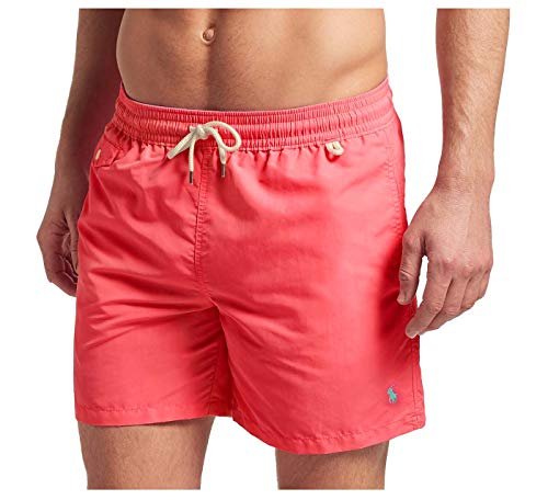 Polo RL Men's Pony Swim Trunks-Peaceful Coral-3XLT