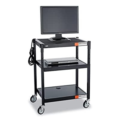 Safco Products 8932BL Steel Adjustable Height AV Cart