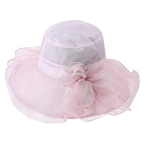 hositor Kentucky Derby Hat, Women's Organza Church Kentucky Derby Fascinator Bridal Tea Party Wedding Hat -