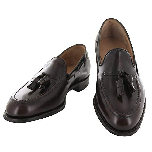 798fb6d7be681 Joseph Cheaney & Sons Dark Brown Leather Tassel Loafers 8.5 D/7.5 F