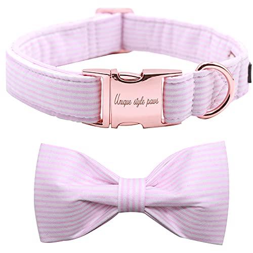 collar para perro pink stripe Unique Style Paws medium