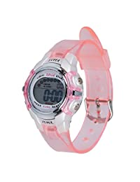 SODIAL(R) Children Pink Band Water Resistant Sports Digital Watch