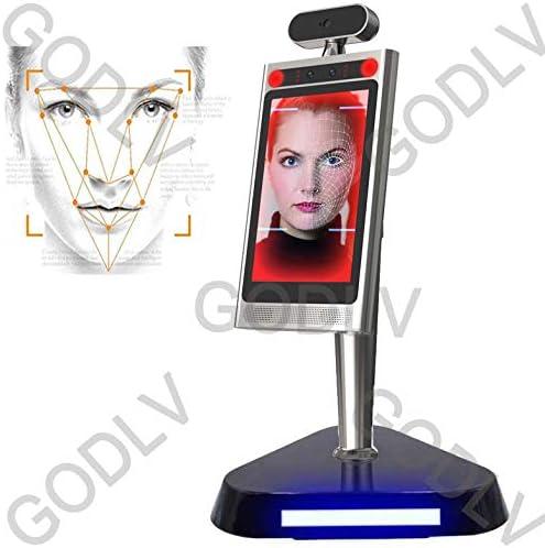 GODLV Sistema de medición de temperatura de reconocimiento facial, sin contacto, termometro infrarrojo, con alarma de voz automática+máquina de control de acceso rápido: Amazon.es: Hogar