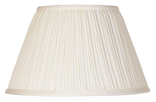 (Upgradelights Eggshell Pleated Silk 12 Inch Washer Lampshade Replacement)