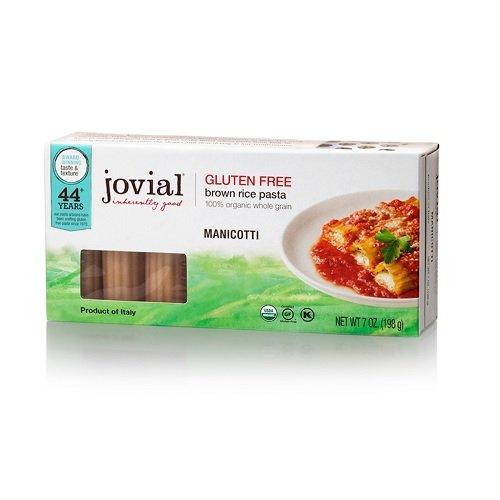 Gluten Free Pasta Shells (Jovial Foods, Organic Brown Rice (Manicotti, 7 Oz, 1-Pack))