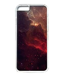 VUTTOO Iphone 6 Plus Case, Red Galactic Nebula Hardshell Case for Apple Iphone 6 Plus 5.5 Inch PC Transparent