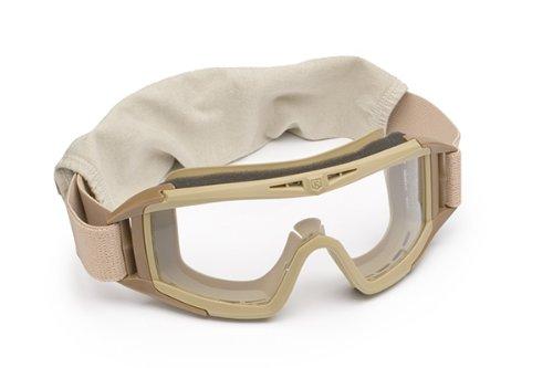 Revision Eyewear Desert Locust Goggles - Revision Military Desert Locust Goggle Basic Clear 4-0309-0501 Desert Locust Goggle Basic Clear Desert Tan, Clear