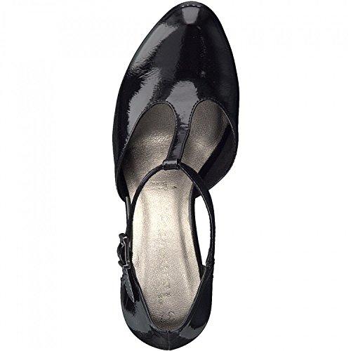 tacón 20 1 Tamaris 24409 zapatos de alto mujer para Schwarz XFwCqH